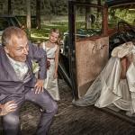 Grappige trouwfoto, huwelijksfotograaf Peter Russchen