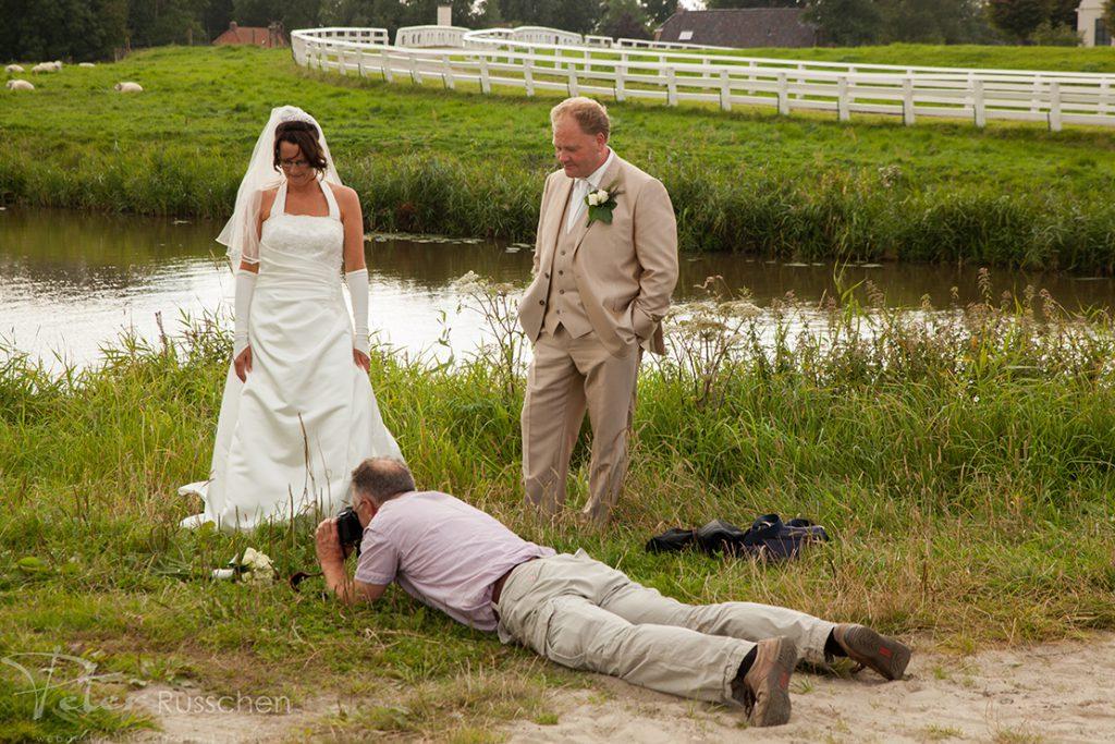 Fotograferen van het bruidsboeket
