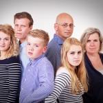 Stoere familiefoto