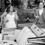 Het bruidspaar puft even uit