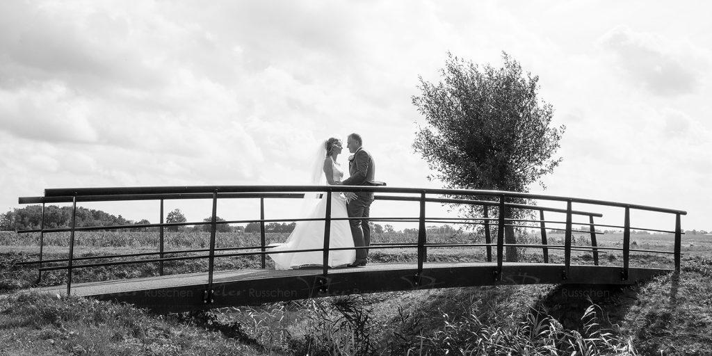 Bruidspaar in UIthuizen